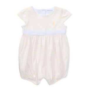 BNWT Ralph Lauren Striped Romper with bow 24 month